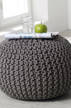 our bubble knit poufs are a smart squishy way to create. Black Bedroom Furniture Sets. Home Design Ideas