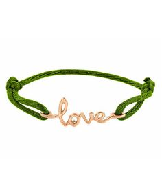 $250? You've got to be kidding! Gotta DIY this... cute. Avanessi One Love Green Cord Bracelet