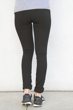 The Go2/JEAN is: 1. Your favorite active leggings mixed with your favorite jean. 2. Elastic waistband is supportive and comfortable and no buttons, rivets or z