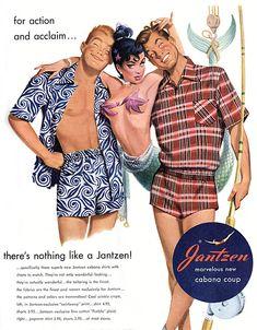 Jantzen Swimwear, 1950s | Retronaut (whole page of retro ads from Jantzen Swimwear)