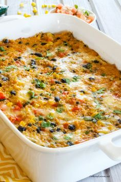 Fiesta Quinoa Casserole--I think I'll add some extra protein:  shredded beef or chicken, or maybe even shrimp!