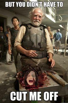 """The Walking Dead"" Season 3 Recapped In Memes. Yup that pretty much sums up season three."