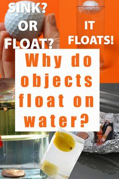 Find out why objects float on water with these easy sink or float science experiments. Make a lemon sink and a golf ball float! Fun water themed science investigations for kids. Great for density experiments too! Cool Science Projects, Science Experiments For Preschoolers, At Home Science Experiments, Science For Kids, Science Activities, Biology For Kids, Chemistry For Kids, Sink Or Float, Kindergarten Science