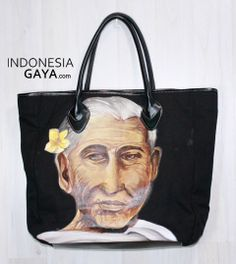 Hand Painted of BALINESE WOMAN Tote Bag