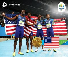 Team #USA dominated the 4x400m Relays, with both Men's and Women's teams taking the #Gold at the #OlympicStadium