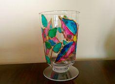 Witrażowy świecznik z małego wazonu