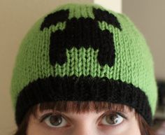 Minecraft Creeper knit cap. Going to knit this for my daughter's friend for his birthday. =)
