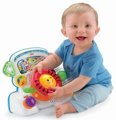 The Rumble & Learn Driver is an interactive learning driver that encourages & rewards baby's learning through play! The steering wheel and gear shift rumble as baby turns the wheel and changes gears...