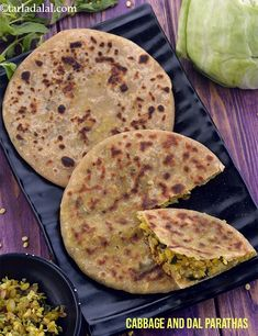 Cabbage and Dal Parathas recipe, Low Sodium Recipes to lower blood pressure