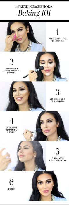 Baking Makeup: The Next Biggest Beauty Trend, check it out at makeuptutorials.c... 101 makeup tutorials/