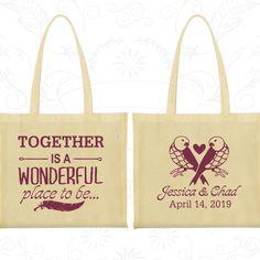 Cotton Tote Bag, Tote Bags, Wedding Tote Bags, Personalized Tote Bags, Custom Tote Bags, Wedding Bags, Wedding Favor Bags (397)