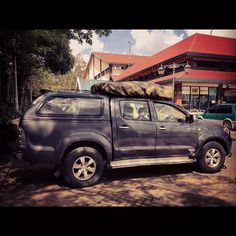Just picked up our ride for the next 10 days: 3.0 liter Toyota Hilux 4wd with roof tent. On our way to Rift Valley now. by ConserVentures, via Flickr