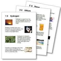 These large cards are perfectly designed for your young learners. 36 elements (Hydrogen through Krypton) are defined and accompanied by a colorful examples of the element at work.