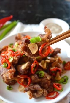 Crispy Cantonese Salt and Pepper Pork Chops by thewoksoflife.com