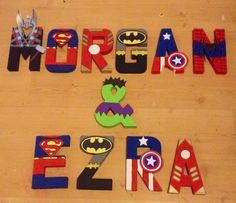 Avengers / superhero character wall letters. www.facebook.com/missylissyletters