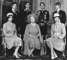 Queen Mum and grandchildren