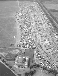 Aerial view of The Hoppings held on the Town Moor Newcastle Town, North East England, Northern England, Aerial View, East Coast, Digital Image, Old Photos, City Photo, Palace