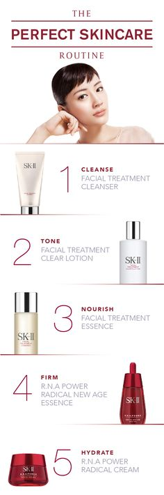 The perfect skincare routine keeps skin looking healthy, beautiful, and young. Choosing the right products to cleanse, tone, nourish, firm, and hydrate your skin is an important part of the process! SK-II products are created with Pitera, a miracle ingredient that results in smooth, crystal clear skin. Read about the 1 ingredient you should be using to transform your routine: http://www.sk-ii.com/about-us-miracle.html?cm_mmc=Pinterest-_-Epop2016-_-Campaign-_-AboutSKII
