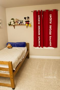 Elements of Aviation Themed Boy's Room - Including Remove Before Flight Curtains!!