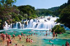 Skradinski Buk - Waterfall in Krka National Park, Croatia