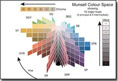 Munsell colour space diagram