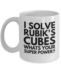 Fun Novelty Coffee Mug  Original I Solve Rubik's by AmendableMugs