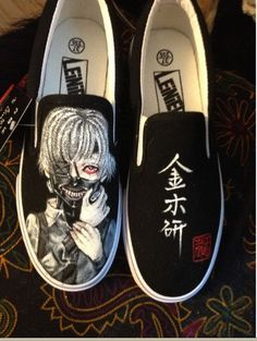 Custom Anime Tokyo Ghoul Shoes