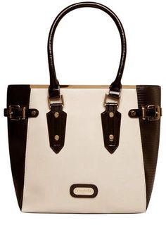 Juno black and white tote bag - Tote Shopper Bags - Bags & Purses - Accessories