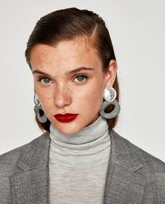 COMBINED CHECKED EARRINGS-Jewellery-ACCESSORIES-WOMAN | ZARA United States