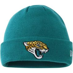 Jacksonville Jaguars New Era Solid Cuffed Knit Hat - Teal 91b732a89