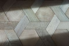 Light games - Parquet floor hexagon Stave and solid oak wood wire - No. 960