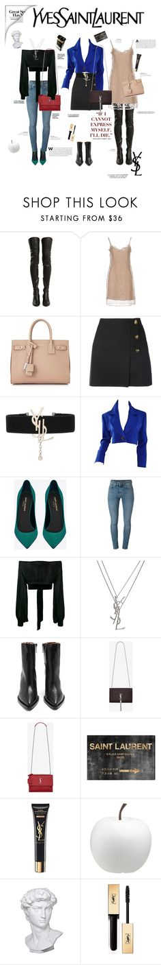 """""""Yves saint laurent"""" by jennarosedesign ❤ liked on Polyvore featuring Yves Saint Laurent, Hedi Slimane, Oliver Gal Artist Co., CB2 and Eichholtz"""