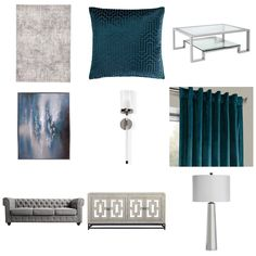 Teal And Grey, Master Bedroom, Curtains, Shower, Home Decor, Master Suite, Rain Shower Heads, Blinds, Decoration Home