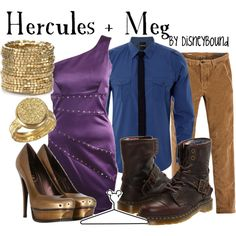 Hercules and Meg couple outfit
