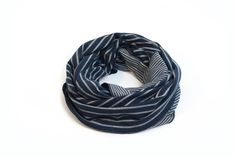 Unisex Infinity Scarf, Blue Stripped Loop Scarf For Man And Woman. Circle Scarf, Fashion Accessory For Men Or Women, Unisex Scarf, Men Scarf by ShawlNoaVider on Etsy