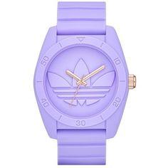 adidas Originals 'Santiago' Silicone Strap Watch, 42mm Purple