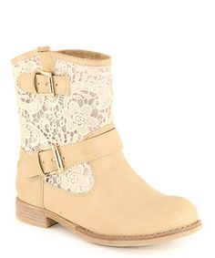 Love this Anna Shoes Khaki Clayton Crochet Boot by Anna Shoes on #zulily! #zulilyfinds