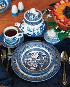 The blue willow pattern is a love story on a plate