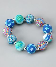 Take a look at this Timeless Turtle Jumbo Silver Ball Bracelet by Viva Beads on #zulily today! so pretty!