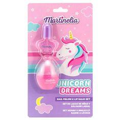 Martinelia Unicorn Dreams Σετ Lip Balm 4.5gr Nail Polish 3ml Lipgloss, Dream Nails, Cute Unicorn, Beauty Bar, Kind Mode, Lip Balm, Perfume Bottles, Nail Polish, Lips