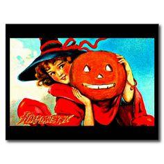 Postcard-Holiday Art-Vintage Halloween 31