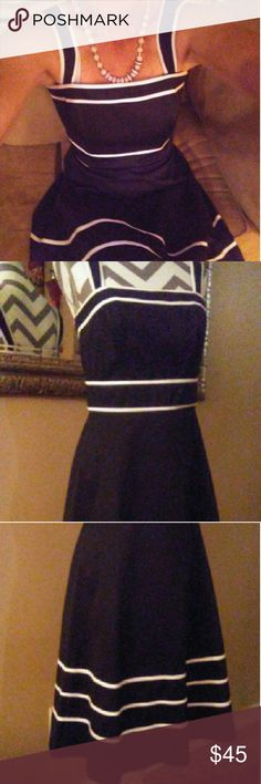 """💢NEW LISTING💢ABSOLUTE MUST💢 💢Absolutely Beautiful and awesome fitting dress! The straps button to where they can be removed! Lined at the bust area to fit snug! Mid Zipper up the back!! Dress as a slight flare at the bottom! Never been worn other than to take pictures!! Bundle and save! Remember if you like the time but not the price.. Make an offer! 💢  💢Length from arm pit to bottom is 32"""" 💢Material is 97% Cotton 💢3% Spandex 💢Lining 100% Polyester  💢Dry Cleaning Only White House…"""
