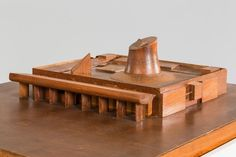 Chandigarh, Palais de l'Assemble´e, Le Corbusier, maquette en bois, 1,015x0,86x0,31m. ©Fondation Le Corbusier-ADAGP, Paris 2013.