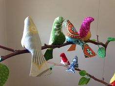 In 2008 Michael Fulkerson was working as a sewing teacher at Spool Sewing, a… Fabric Birds, Fabric Scraps, Bird Crafts, Diy And Crafts, Sewing Crafts, Sewing Projects, Bird Mobile, Felt Birds, Bird Patterns