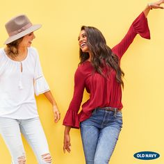 BFFs & bell sleeves — the ticket to your best fall yet. Check out the new arrivals for tons of options, plus... denim. So much good denim.