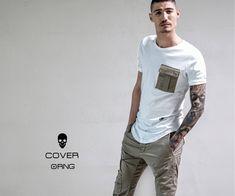 Khaki cargos teamed with longline white T-shirt