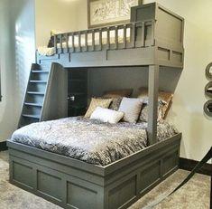 Built-in bunk beds by Fixer-Upper stars, Chip and . - bunk beds by Fixer-Upper stars, Chip and . - You can opt for multifunctional bunk bed Home Bedroom, Girls Bedroom, Bedroom Decor, Bedroom Ideas, Trendy Bedroom, Bedroom Modern, Bedroom Colors, Master Bedroom, Attic Bedrooms