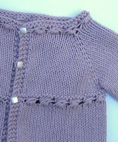 Free pattern for knit baby cardigan sweater
