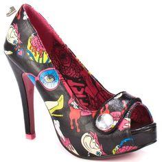 Iron Fist Glamour Guts Platform - Black - Iron fist shoes for women (*Amazon Partner-Link)