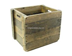 Wooden Box, Wood Crate, Wooden Bin, Wood Tote, Carry-all, Rustic Storage & Organization, Custom Sizes Available, Custom Engraving Available